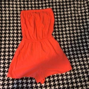Other - Coral strapless romper